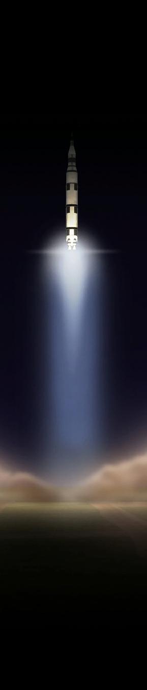 Fusée KSP décollage bandeau vertical V2